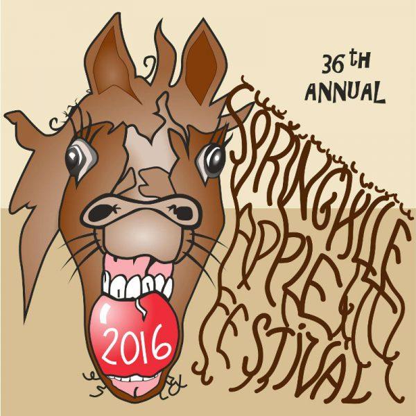 2016 Springville Apple Festival T-Shirt Design