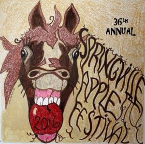Springville Apple Festival 2016 T-Shirt Design